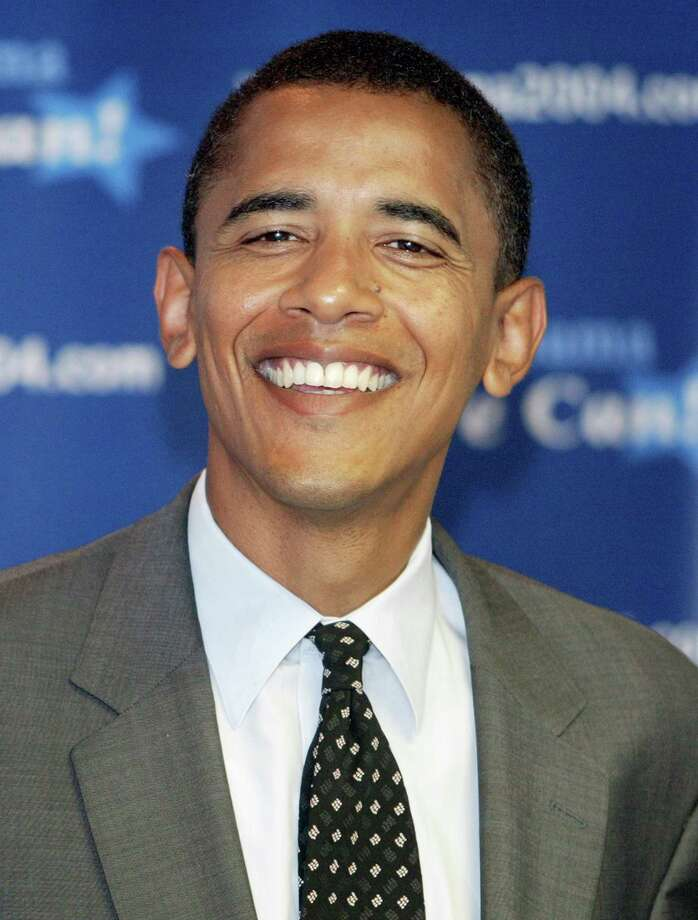 – Barack Obama:  The future 44th President, in his high school yearbook, had a portrait in a white leisure suit but also a still-life photo of a beer bottle and Zig-Zag cigarette papers.  The caption carried Obama's thanks to Tut and Gramps but also the Choom Gang.  Chooming is Hawaiian slang for smoking dope.   I inhaled frequently, Obama confessed years later. Photo: Tim Boyle, Getty Images / 2004 Getty Images