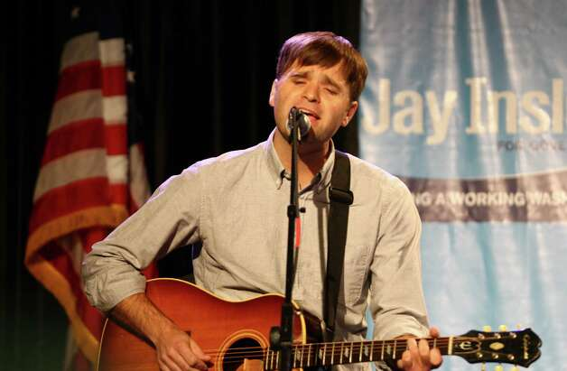 Death Cab for Cutie singer Ben Gibbard performs during a campaign fundraiser for Democratic gubernatorial candidate Jay Inslee at the Washington State Convention Center on Saturday, September 15, 2012. The event, which featured former President Bill Clinton, was described by speakers as one of the largest political gatherings Seattle has seen, brought in roughly $750,000 and about 3,000 people. Photo: LINDSEY WASSON / SEATTLEPI.COM