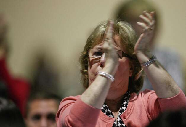 A woman claps furiously as Senator Patty Murray speaks during a campaign fundraiser for Democratic gubernatorial candidate Jay Inslee at the Washington State Convention Center on Saturday, September 15, 2012. The event, which featured former President Bill Clinton, was described by speakers as one of the largest political gatherings Seattle has seen, brought in roughly $750,000 and about 3,000 people. Photo: LINDSEY WASSON / SEATTLEPI.COM