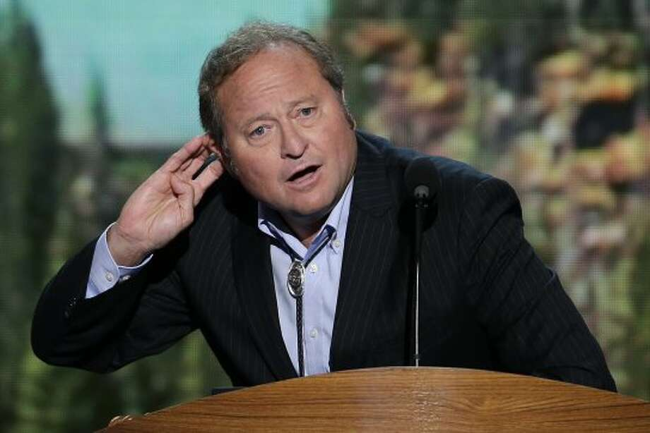 Montana Gov. Brian Schweitzer addresses the Democratic National Convention in Charlotte, N.C., on Thursday, Sept. 6, 2012. (AP Photo/J. Scott Applewhite) (Associated Press)