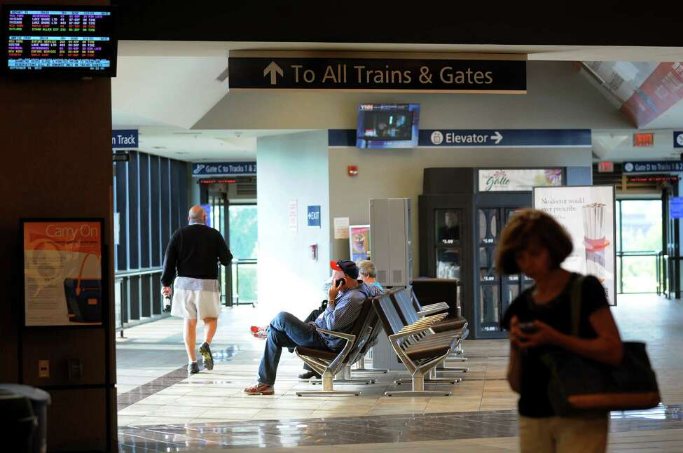 Travelers wait in the station on Friday, Sept. 14, 2012, at the Rensselaer Train Station in Rensselaer, N.Y. (Cindy Schultz / Times Union)