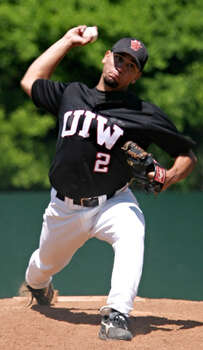 University of Incarnate Word pitcher Hector Delgadillo in 2005. (photo courtesy UIW) Photo: Express-News