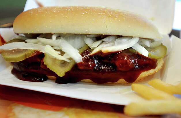 McDonald's McRib Sandwich, 500 calories. Photo: Tammy McKinley, Beaumont Enterprise