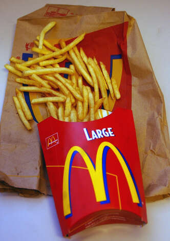 McDonald's Large Fries, 500 calories. Photo: Rich Kareckas, Associated Press / AP