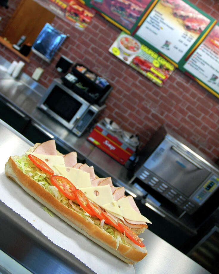 Subway 12-inch Cold Cut Combo, 720 calories. (A 6-inch is 360.) Photo: San Antonio Express-News File Photo / SAN ANTONIO EXPRESS-NEWS