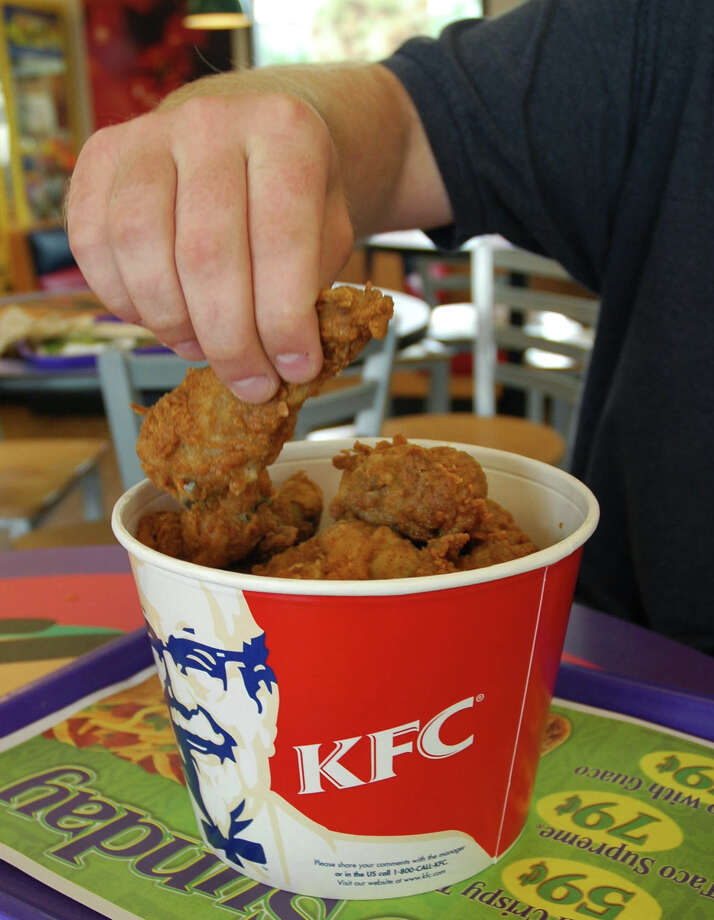 KFC Original Recipe Chicken Drumstick, 120 calories. Photo: San Antonio Express-News File Photo / SAN ANTONIO EXPRESS-NEWS