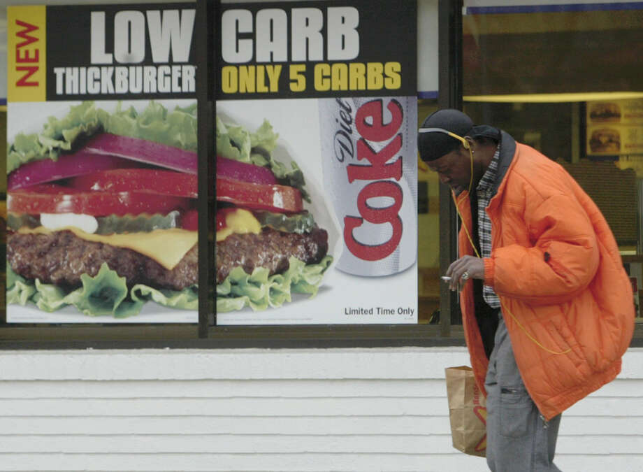 Hardee's 1/3 lb. Low Carb Thickburger, 470 calories. Photo: Tom Gannam, Associated Press / AP