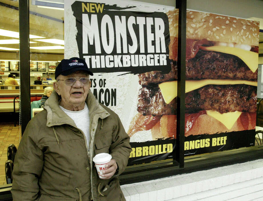 Hardee's 2/3 lb. Monster Thickburger, 1,330 calories. Photo: James A. Finley, Associated Press / AP