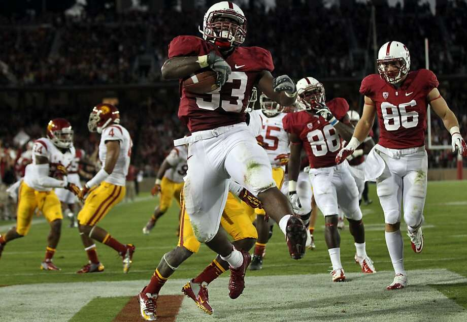 Senior running back Stepfan Taylor is just a hop, skip and a jump from becoming Stanford's sole all-time leader in touchdowns. Photo: Lance Iversen, The Chronicle