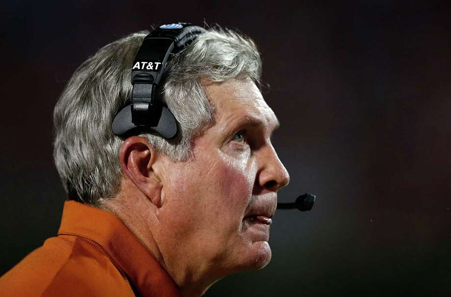OXFORD, MS - SEPTEMBER 15:  Head coach Mack Brown of the Texas Longhorns waits on the sideline during the game against the Ole Miss Rebels at Vaught-Hemingway Stadium on September 15, 2012 in Oxford, Mississippi. Photo: Scott Halleran, Getty Images / 2012 Getty Images