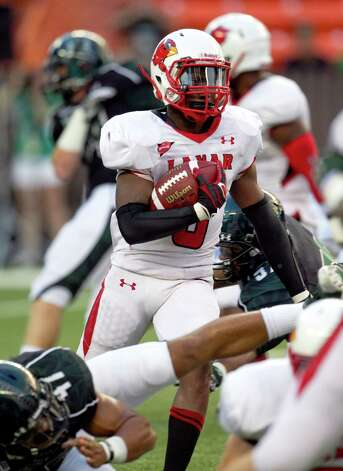 Lamar defensive back Mike Venson runs a kick return during the first half of their NCAA college football game against Hawaii, Saturday, Sept. 15, 2012, in Honolulu.  (AP Photo/Marco Garcia) Photo: Marco Garcia, FRE / 20112011