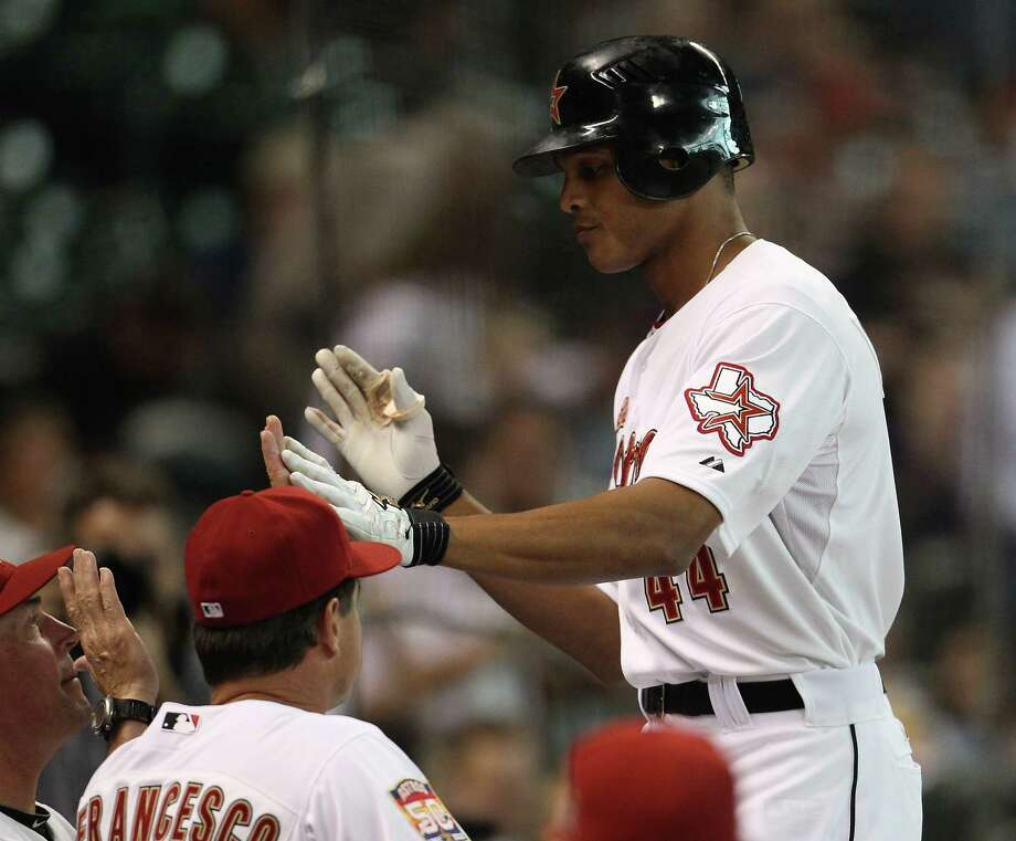 Sept. 15: Astros 5, Phillies 0Justin Maxwell's first inning home run propelled the Astros to their second win in the four-game series.Record: 47-99. Photo: Karen Warren, Houston Chronicle / © 2012  Houston Chronicle