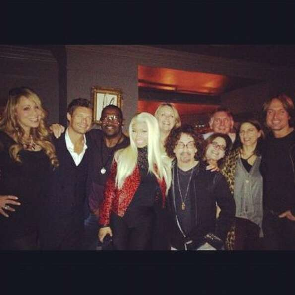 "Mariah Carey tweeted this photo earlier today. ""A festive dinner with friends... Here we go!&qu"