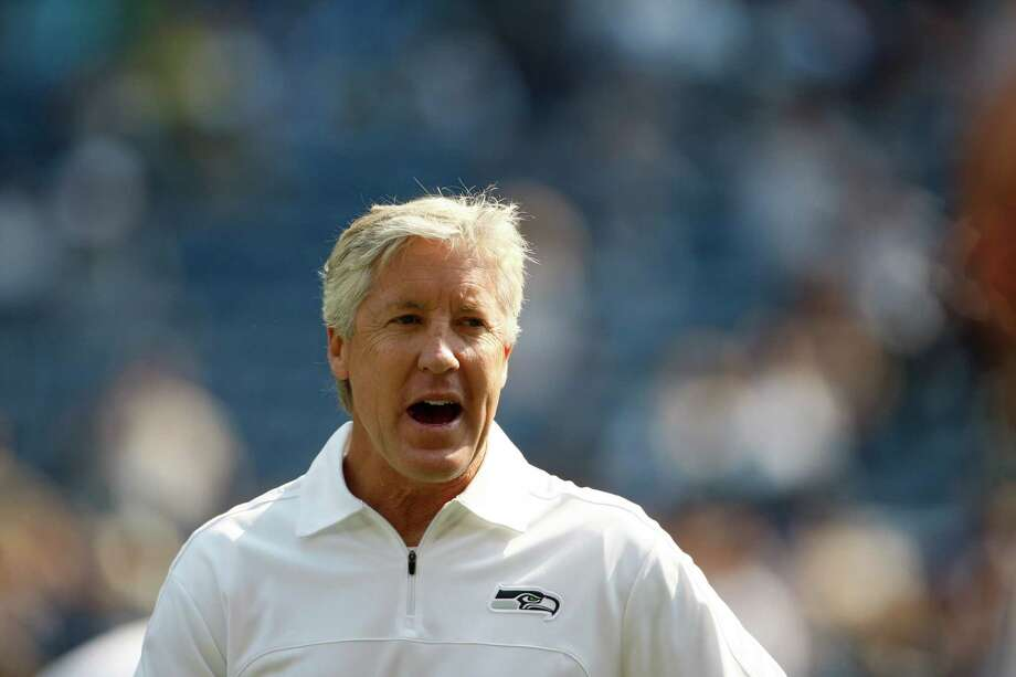 Seattle Seahawks coach Pete Carroll before an NFL football game against the Dallas Cowboys, Sunday, Sept. 16, 2012, in Seattle. Photo: AP