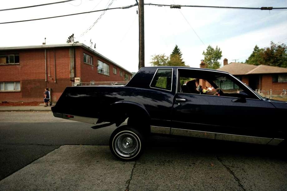 A lowrider car rolls through South Park. Photo: Sofia Jaramillo / SEATTLEPI.COM