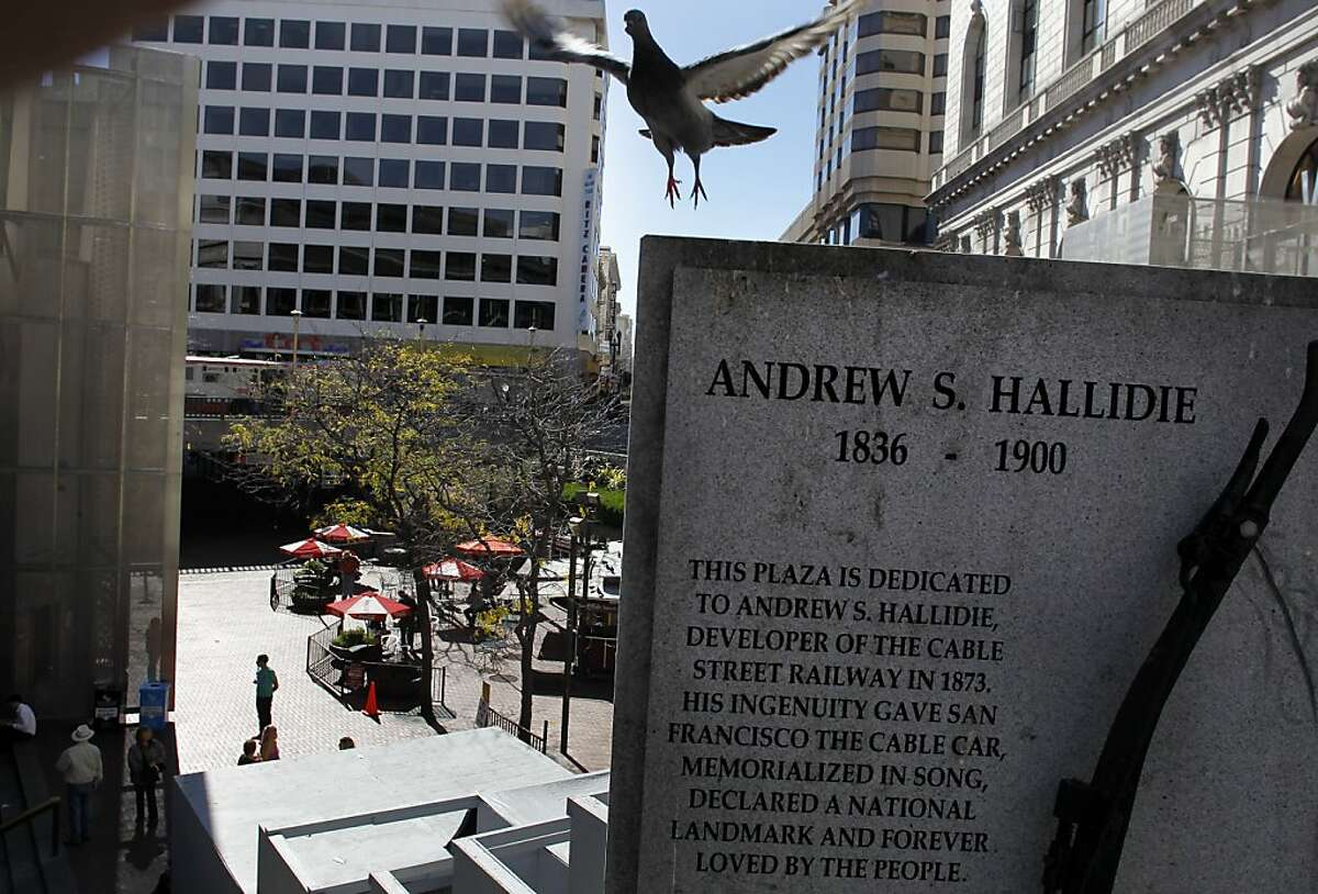 Hallidie Plaza at Powell and Market Streets in San Francisco, Ca., on Saturday September 15, 2012. The City of San Francisco is considering a plan to upgrade Market Street that includes finding a way to focus more energy and draw more people to the three main public areas of the street: The Embarcadero, Hallidie Plaza at Powell and United Nations Plaza.