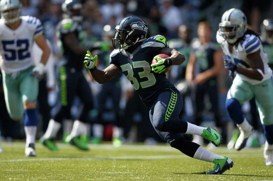 Seattle Seahawks' Leon Washington in action against the Dallas Cowboys in the first half of an NFL football game, Sunday, Sept. 16, 2012, in Seattle. Photo: AP
