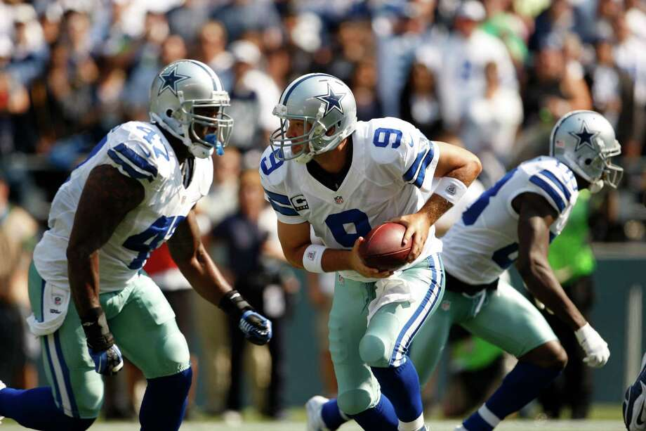 Dallas Cowboys' Tony Romo in action against the Seattle Seahawks in the first half of an NFL football game, Sunday, Sept. 16, 2012, in Seattle. Photo: AP