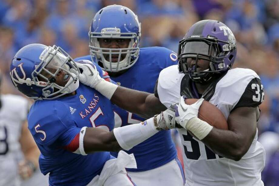 2. TCU (last week 2, next week vs. Virginia) — Horned Frogs can't afford all of those mistakes against any other Big 12 team and expect to win.(Charlie Riedel / Associated Press)
