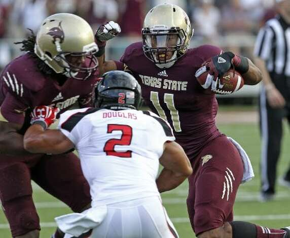11. Texas State (last week 11, next week vs. Stephen F. Austin) — Fightin' Frans take a week to regroup and prepare after struggles against Tech last week. (Tom Reel / San Antonio Express-News)