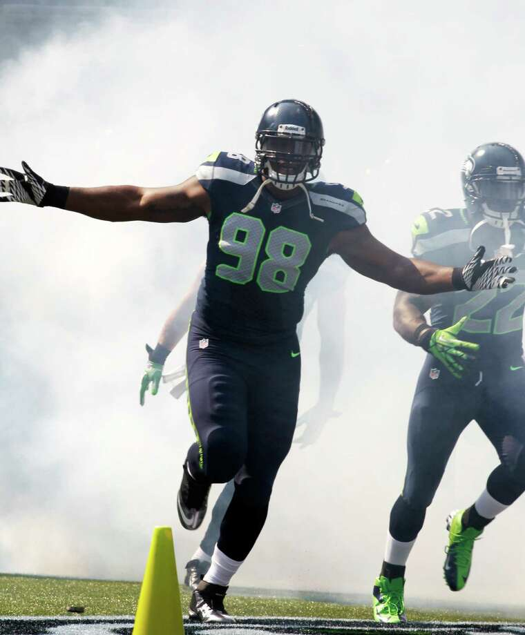 Seattle Seahawks' Greg Scruggs comes out of the tunnel before the first half of an NFL football game against the Dallas Cowboys, Sunday, Sept. 16, 2012, in Seattle. Photo: AP