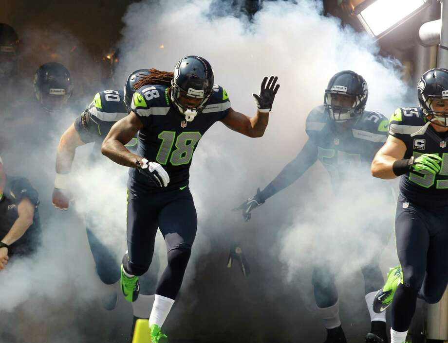 Seattle Seahawks' Sidney Rice comes out of the tunnel before the first half of an NFL football game against the Dallas Cowboys, Sunday, Sept. 16, 2012, in Seattle. Photo: AP