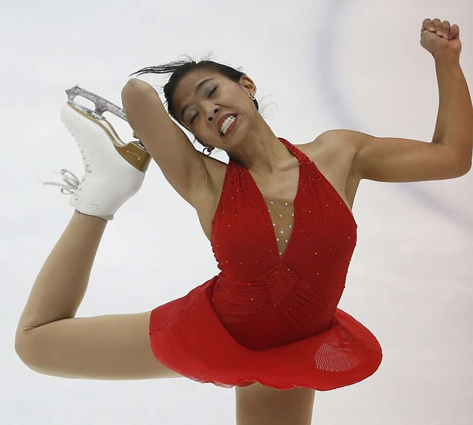 Melissa Bulanhagu from the Philippines competes in the senior ladies free skating during the 2012 U.S. International Figure Skating Classic September 16, 2012 Salt Lake City, Utah. (Photo by George Frey/Getty Images) Photo: George Frey, Getty Images