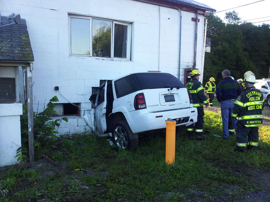 Crash on route 143, Coeymans Hollow early Sunday morning, Sept. 16, 2012. (Tom Heffernan Sr.)