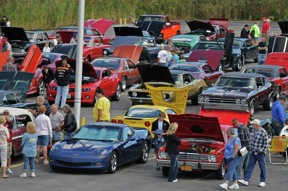 About 157 cars registered in advance for the second annual Times Union Car Show, a fundraiser for the Times Union Hope Fund, put on by the paper and by In Motion and Rolis Muscle Cars,LLC, on Sunday Sept. 16, 2012 in Colonie, NY.  (Philip Kamrass / Times Union) Photo: Philip Kamrass / 00019237A