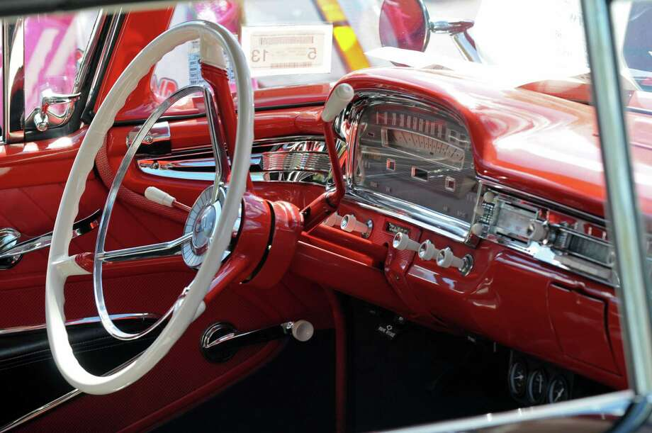 A 1959 Ford Fairlane convertible, owned by John and Maria Stoodley of Scotia, was on display at the second annual Times Union Car Show, a fundraiser for the Times Union Hope Fund, put on by the paper and by In Motion and Rolis Muscle Cars,LLC, on Sunday Sept. 16, 2012 in Colonie, NY.  (Philip Kamrass / Times Union) Photo: Philip Kamrass / 00019237A