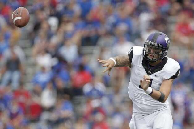 Casey Pachall, TCU, 24-30-0, 335 yards, 2 TDs. (Charlie Riedel / Associated Press)