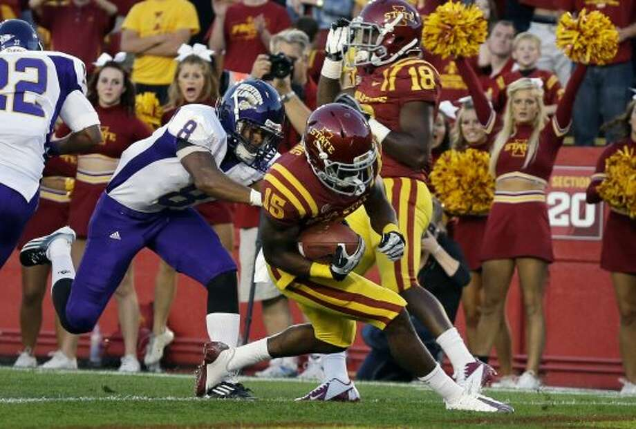 Chris Young, Iowa State, 7 catches, 2 TDs. (Charlie Neibergall / Associated Press)