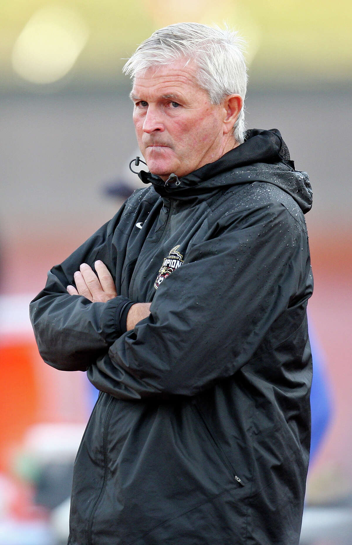 Scorpions head coach Tim Hankinson walks the sidelines during first half action against the RailHawks Sunday Sept. 16, 2012 at Heroes Stadium.