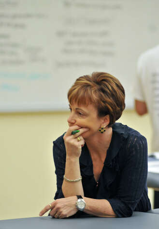 Dr. Julie Thompson intently watches students as they do gate analysis at the University of the Incarnate Word School of Physical Therapy Tuesday morning. The facility is located at 9160 Guilbeau Rd. Photo: For The Express-News