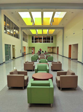 The main atrium of the new University of the Incarnate Word School of Physical Therapy. Photo: For The Express-News