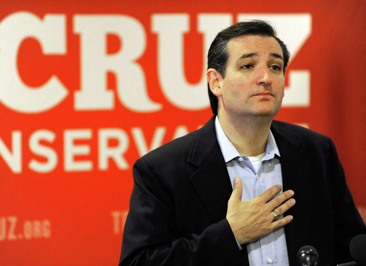 Texas Republican Senate candidate Ted Cruz speaks to the media Wednesday, Aug. 1, 2012, in Houston a day after trouncing Lt. Gov. David Dewhurst in a runoff. (AP Photo/Pat Sullivan)