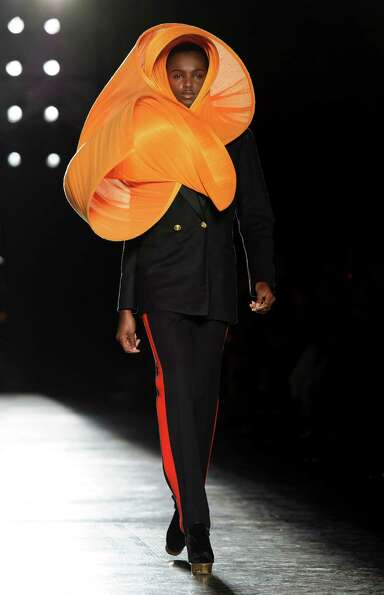 A model wears a design from the Philip Treacy Spring/Summer 2013 collection during London Fashion We