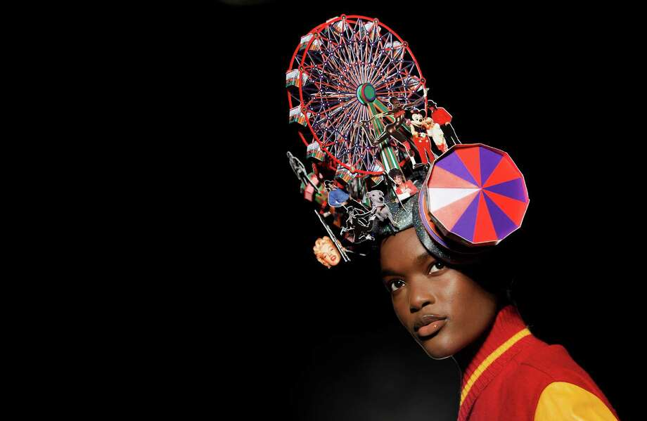 A model wears a design from the Philip Treacy Spring/Summer 2013 collection during London Fashion Week, Sunday, Sept. 16, 2012. Photo: Jonathan Short, AP / AP