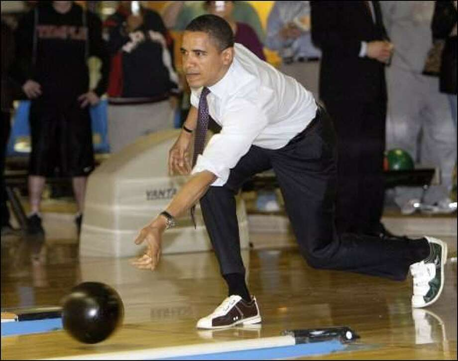 Bowling -- and not very good at it.