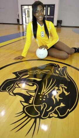 Ozen High School girls volleyball player Lucille Ricord is a senior on Ozen's volleyball team. Ozen is currently undefeated.  Dave Ryan/The Enterprise Photo: Dave Ryan