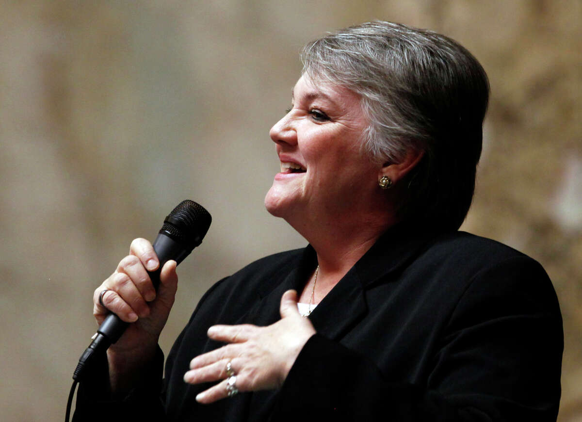 State Sen. Maureen Walsh, R-College Place. She backed same sex marriage with a speech that went viral, but opposed Democrats' sex education bill as denying a role to local school boards.