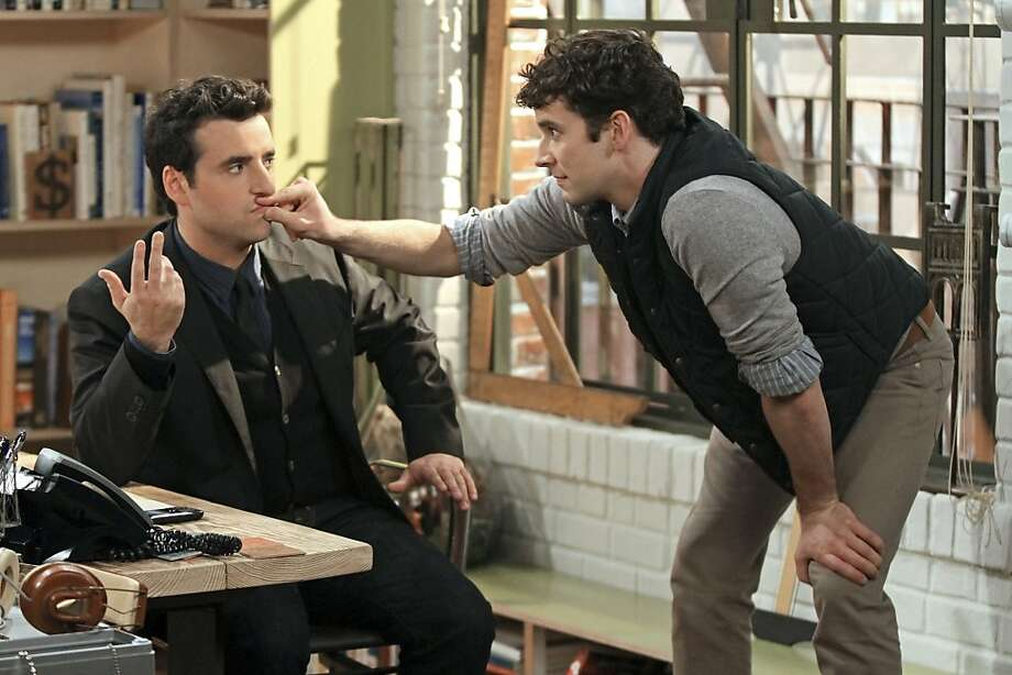 "In ""Partners,"" David Krumholtz (left) is newly engaged Joe, who leads with his head, not his heart, and Michael Urie is Louis, his co-worker and best friend, who is gay and spontaneous. Photo: Matt Kennedy, CBS"