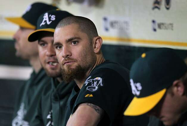Jonny Gomes brings a consistently positive attitude to the A's clubhouse, whether he's in the ballgame or waiting his turn. Photo: Lance Iversen, The Chronicle