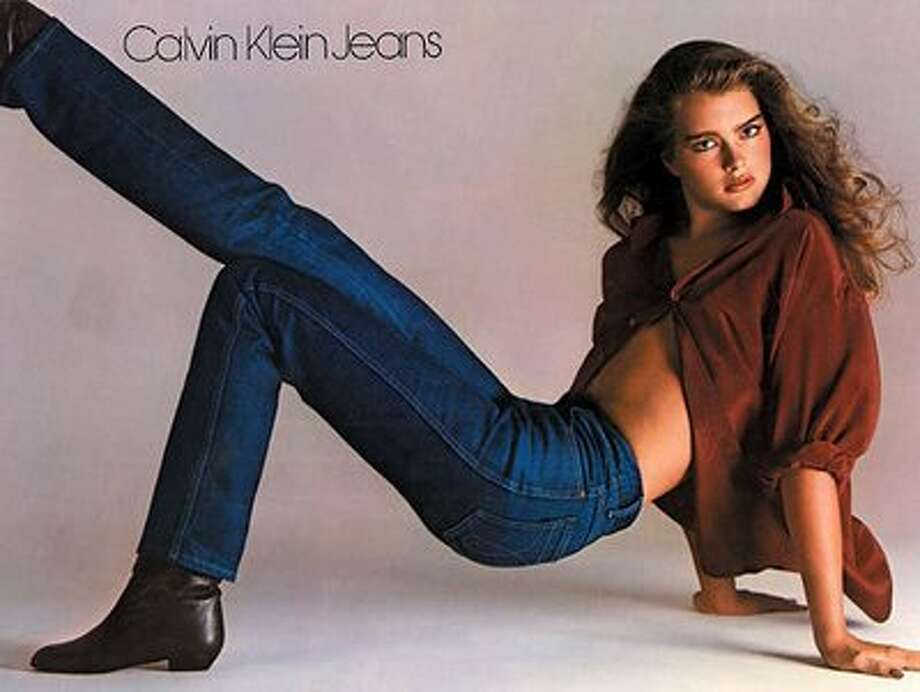 This ad looks benign today but in 1980 the world was in an uproar over 15-year-old Brooke Shield's provocative pose and partially unbuttoned shirt in a Calvin Klein TV ad. The ad's slogan, Nothing comes between me and my Calvins, was also considered inappropriate. Photo: Picasa 3.0