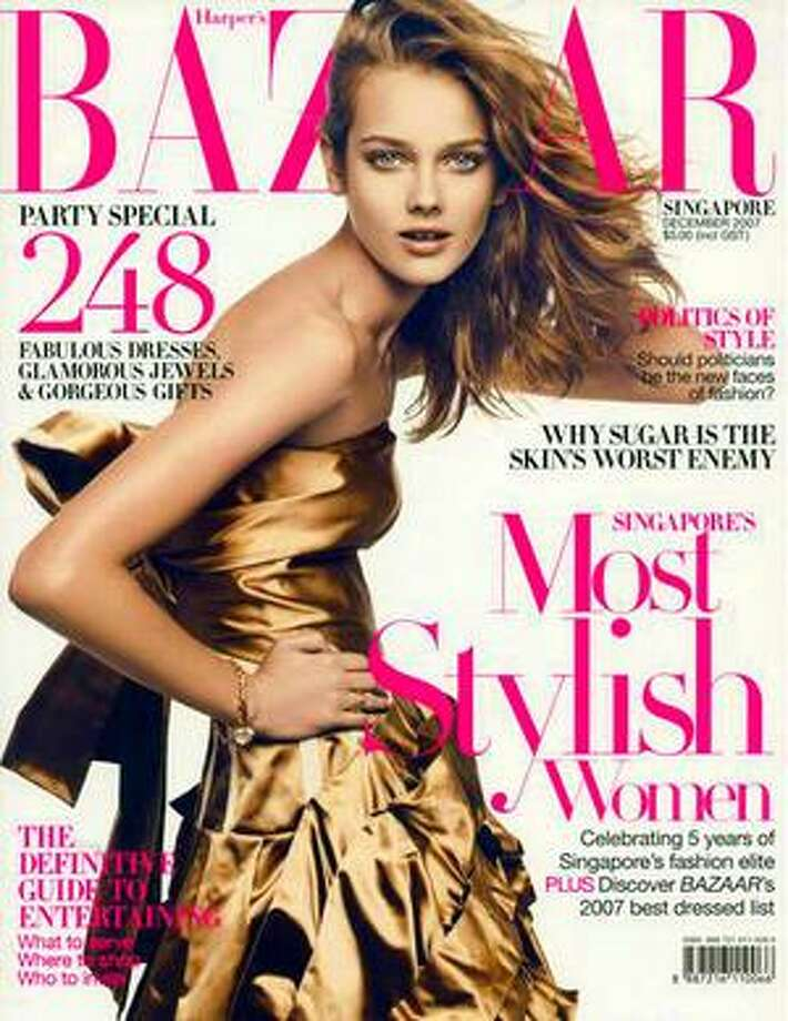 Magazine covers are notoriously inappropriate. This 2008 Japanese edition of Harper's Bazaar sparked outrage for featuring a rail-thin 14-year-old Polish model. Monika Jagaciak was banned from walking at Austrlia's Fashion Week.