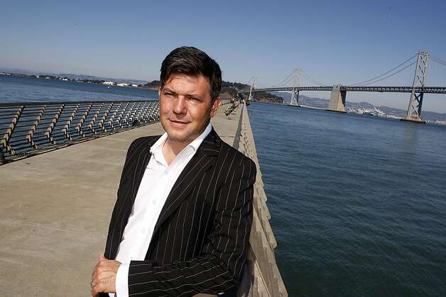 Artist Leo Villareal says his Bay Bridge light sculpture will feature sequences that are orchestrated but never repeat. Photo: Liz Hafalia, The Chronicle