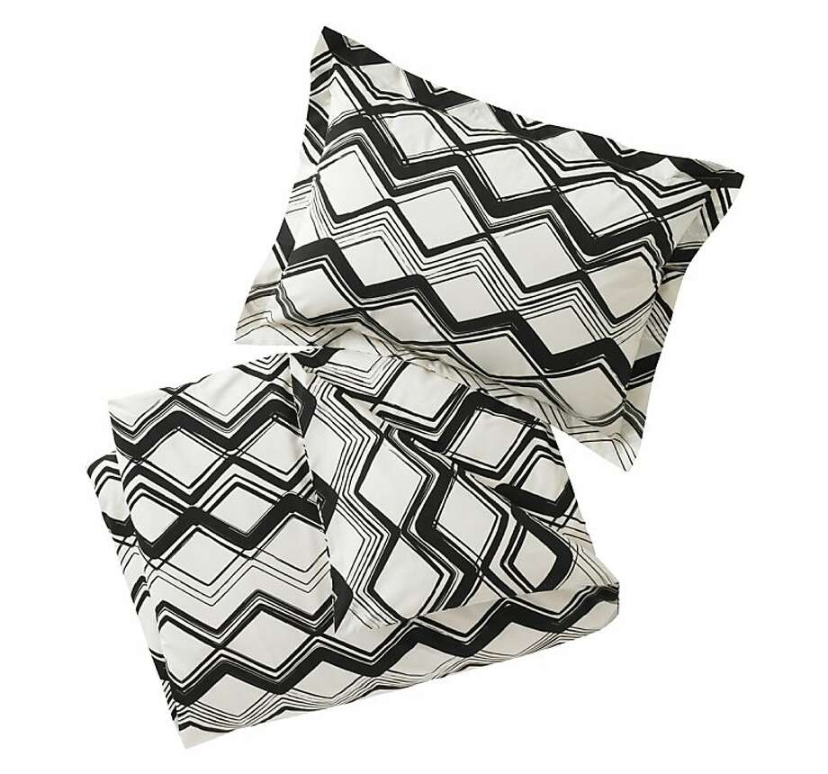 More: $310-$360: Painted Chevron Ink Duvet from Dwell Studio (shams included; dwellstudio.com) Photo: Dwell Studio