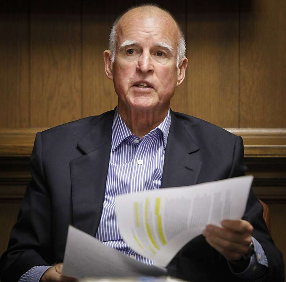 Gov. Jerry Brown signed the bill, which was opposed by the American Civil Liberties Union. Photo: Russell Yip, The Chronicle