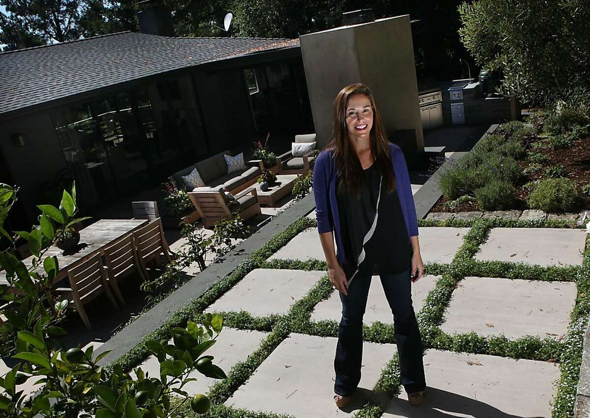 Architect April Gruber shows her garden in Piedmont, Calif., on Wednesday, September 12, 2012.