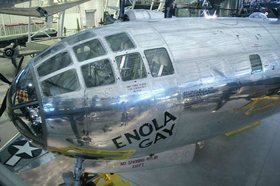 The cockpit area of the restored Enola Gay is now on display at the Steven F. Udvar-Hazy Center of the Smithsonian National Air and Space Museum, in Chantilly, Va. Photo: KAREN BLEIER, AFP/Getty Images / 2006 AFP